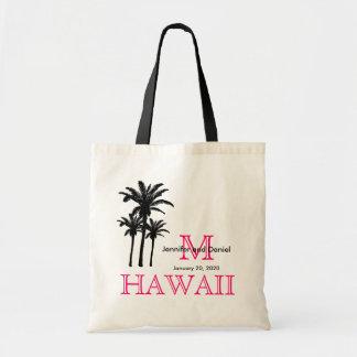 Las bolsas de asas Hawaii del boda del destino