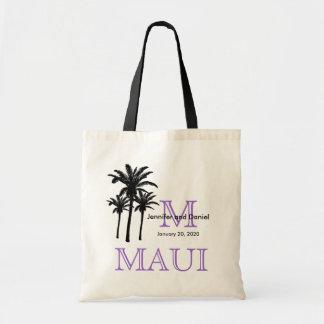 Las bolsas de asas Maui del boda del destino