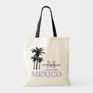 Las bolsas de asas México del boda del destino