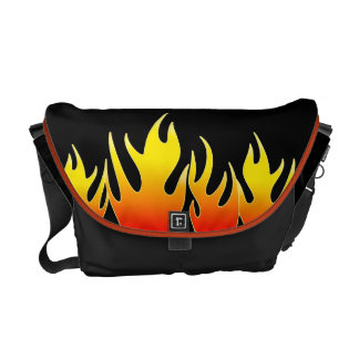 Las bolsas de mensajero ardientes de las llamas bolsas messenger