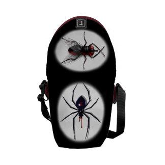 Las bolsas de mensajero de la araña y de la mosca bolsa messenger