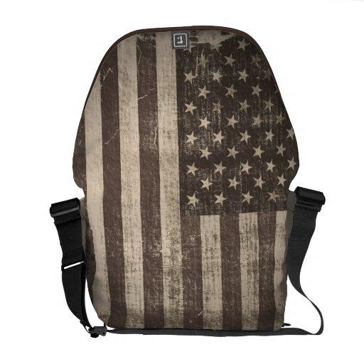 Las bolsas de mensajero de la bandera americana de bolsas de mensajeria