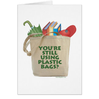 Las bolsas de plástico tarjeta de felicitación