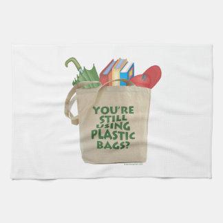 Las bolsas de plástico toalla de mano