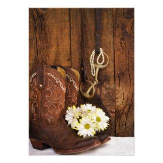 Las botas boda del país del pedazo del caballo de