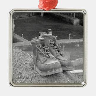 Las botas de un trabajador ornamentos de reyes magos