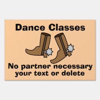 Las botas de vaquero estén bailando bastante el carteles