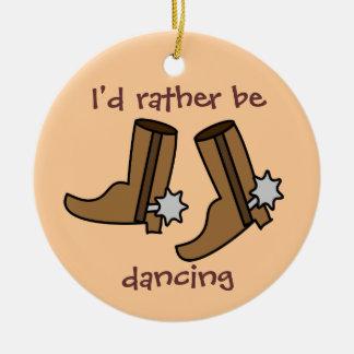 Las botas de vaquero estén bailando bastante el pa ornamento de reyes magos