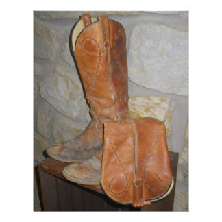 ¡Las botas de vaquero viejas son las mejores botas Tarjetón