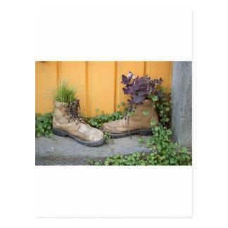 Las botas recicladas hacen buenos plantadores postal