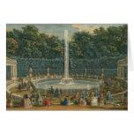 Las bóvedas en el jardín en Versalles, pub. por La Tarjeta De Felicitación