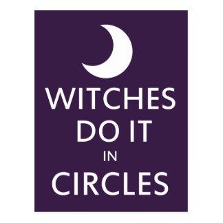 Las brujas lo hacen en círculos postales