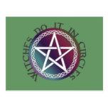 """Las """"brujas lo hacen en diseño pagano lindo de los postal"""
