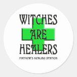 las brujas son curadores pegatinas