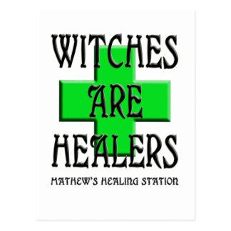 las brujas son curadores tarjetas postales