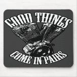 Las buenas cosas vienen en pares tapetes de ratón