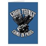 Las buenas cosas vienen en pares tarjetón