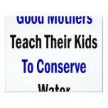 Las buenas madres enseñan a sus niños a conservar invitacion personalizada