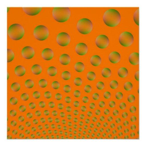 Las burbujas en Zazzle anaranjado y verde perfecci Perfect Poster