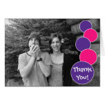 Las burbujas le agradecen el rosa (púrpura/magenta tarjetas