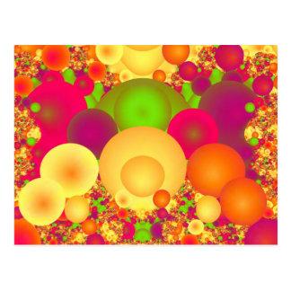 Las burbujas refrescan fractal fino abstracto postales