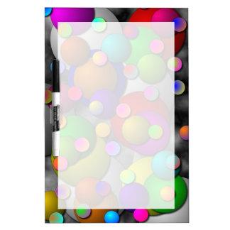 Las burbujas secan al tablero del borrado tableros blancos