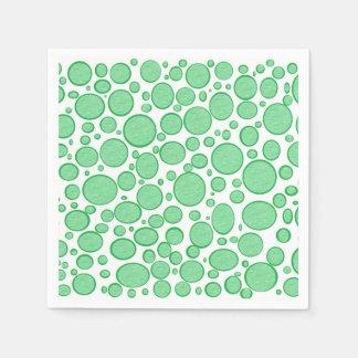 Las burbujas verdes aligeraron las servilletas de servilletas de papel