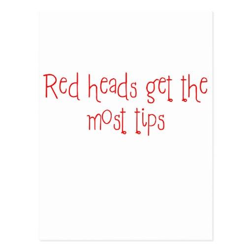 Las cabezas rojas consiguen la mayoría de las extr postales