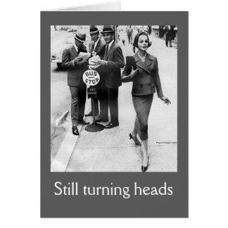 Las cabezas todavía de torneado Vintage-Inspiraron Tarjeta De Felicitación