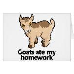 Las cabras comieron mi preparación tarjeton