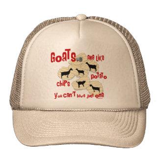 Las cabras son como las patatas fritas gorros