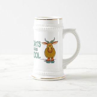 Las cabras son frescas jarra de cerveza