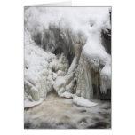 Las caídas de Doane congelado en el invierno, Roya Tarjetón