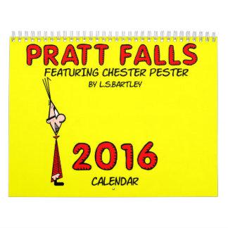 Las caídas de Pratt que ofrecen Chester Pester el Calendarios De Pared