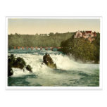 Las caídas del Rin, con el castillo de Laufen, Sc Tarjeta Postal
