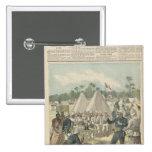 Las cajas del Año Nuevo en Dahomey Pin Cuadrado