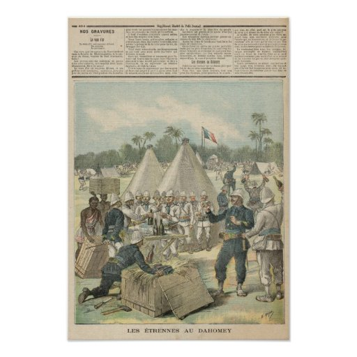 Las cajas del Año Nuevo en Dahomey Póster