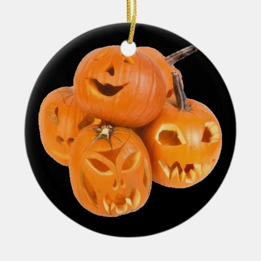 Las calabazas de Halloween - Adorno Navideño Redondo De Cerámica