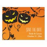 """Las calabazas de Halloween ahorran las tarjetas de Invitación 4.25"""" X 5.5"""""""