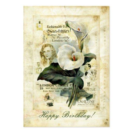 Las calas están en etiqueta del regalo de la flora tarjetas de visita