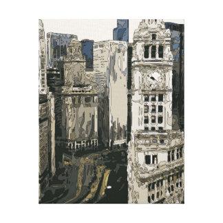 Las calles que apresuran de New York City Impresión En Lona Estirada