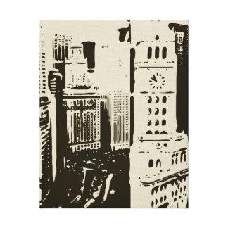 Las calles que apresuran de New York City Lienzo Envuelto Para Galerias