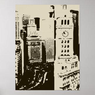 Las calles que apresuran de New York City Posters