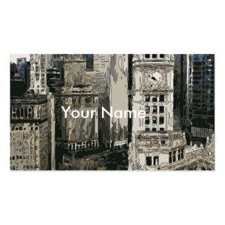 Las calles que apresuran de New York City Tarjetas De Visita