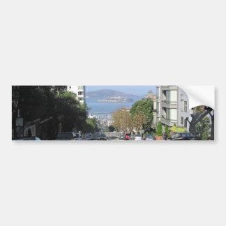 Las calles que se inclinan de San Francisco Pegatina Para Coche
