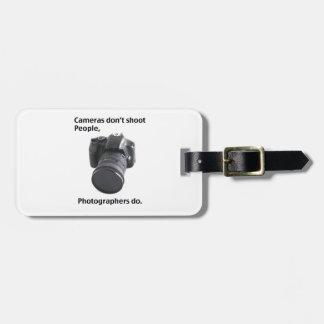 Las cámaras no tiran a gente etiqueta de maleta