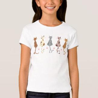 Las camisetas de Bella de los gatos del chica Playera