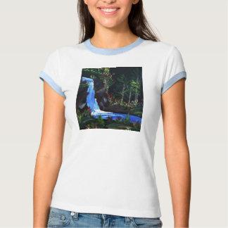 Las camisetas de la mujer de las caídas del Lit de Polera