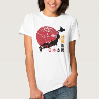 Las camisetas de las mujeres de Japón de la ayuda Playeras