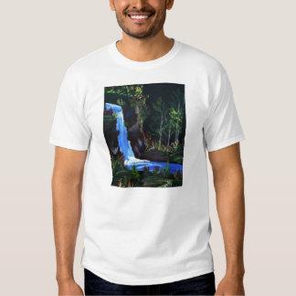 Las camisetas de los hombres de las caídas del Lit Playera